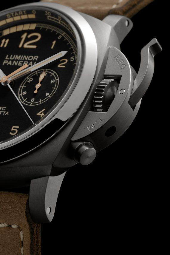 Panerai Luminor 1950 PCYC Regatta Chrono Flyback Titanio - crown-lock CU