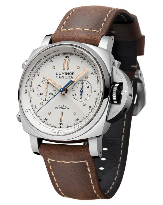 Panerai Luminor 1950 PCYC Chrono Flyback - white dial - soldier